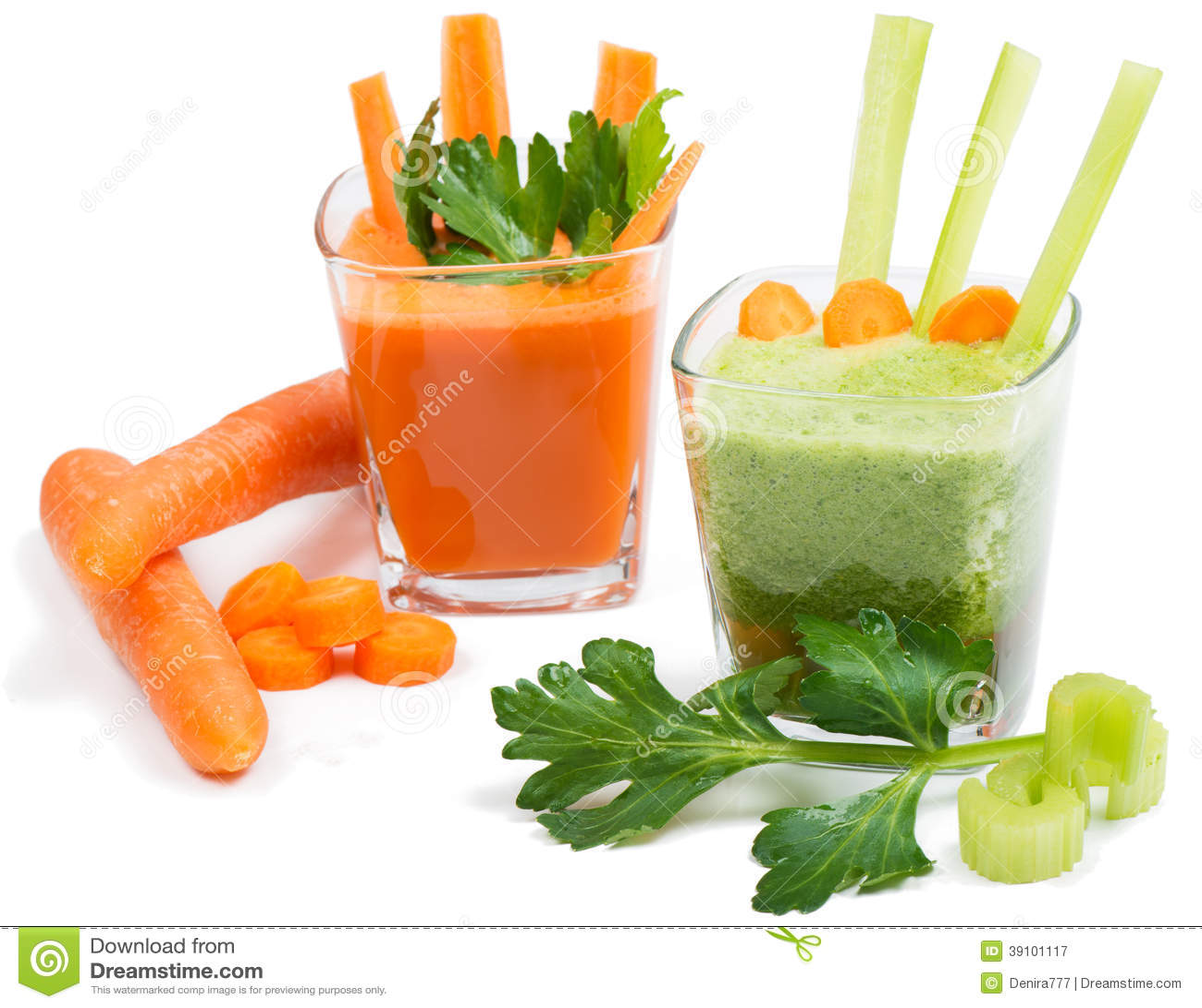 Sap van selderie en wortel