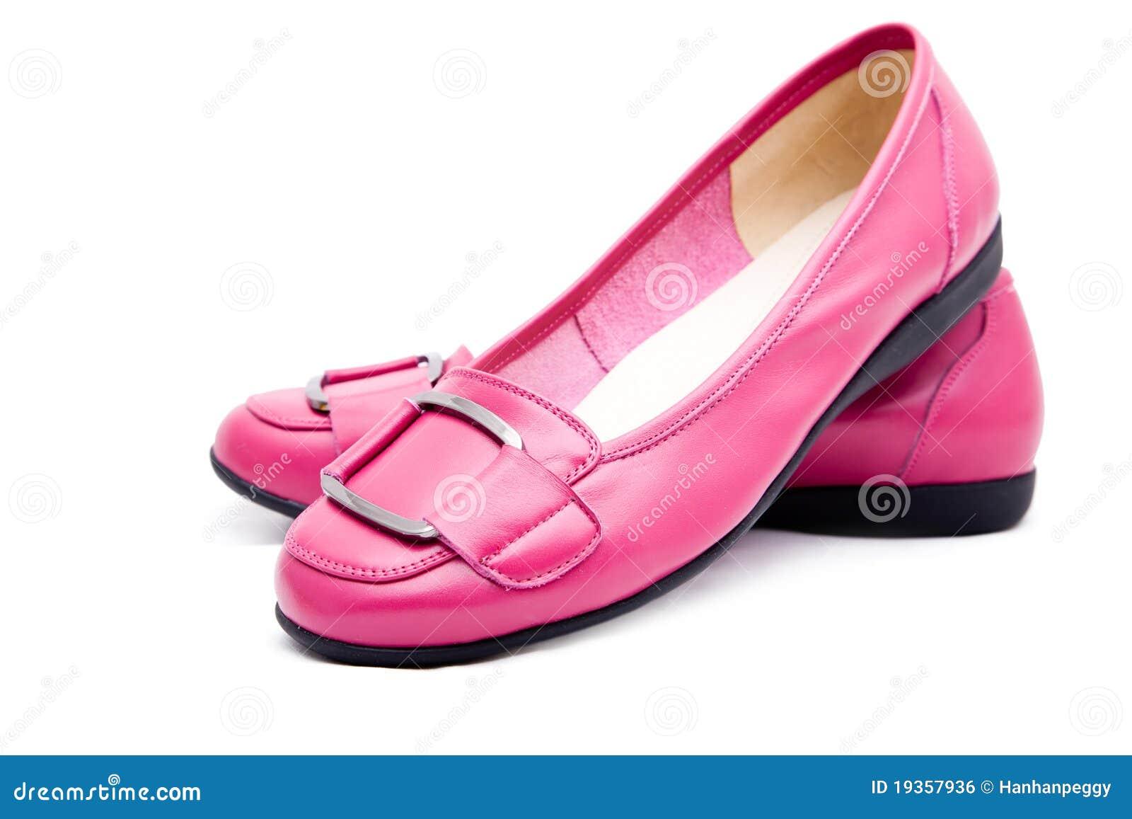 Sapatas cor-de-rosa da mulher
