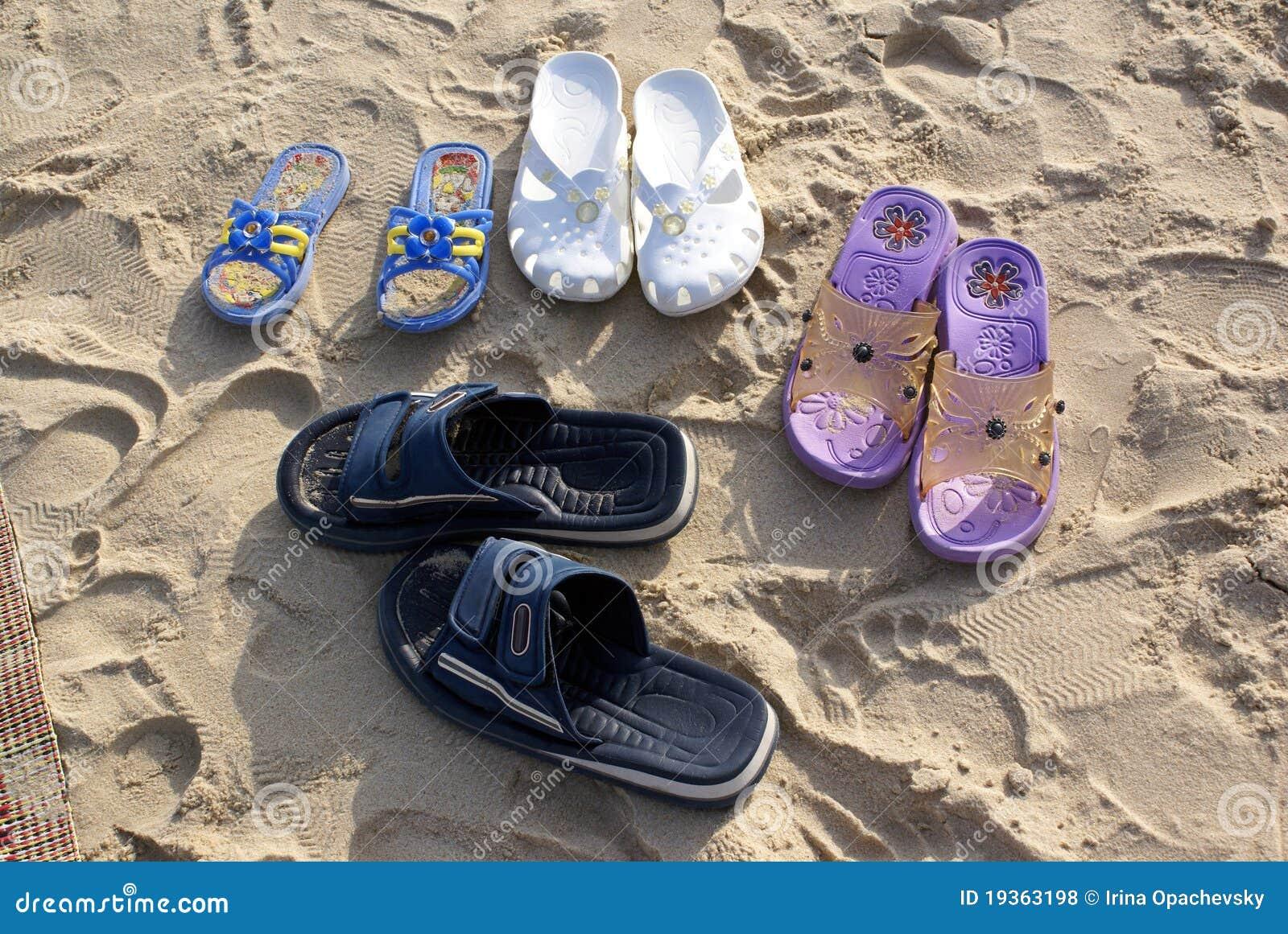 Sapatas da praia