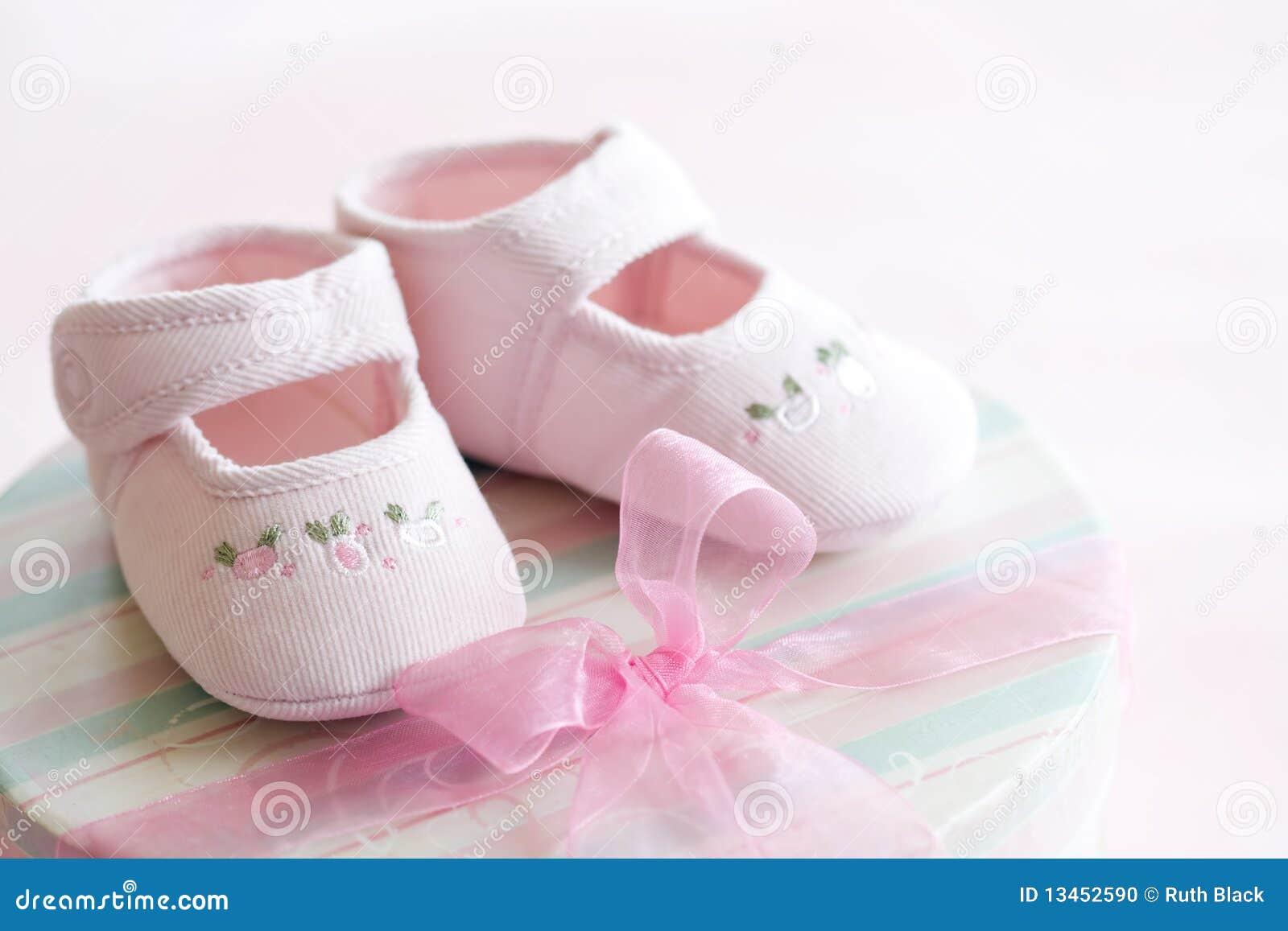 Sapatas de bebê cor-de-rosa