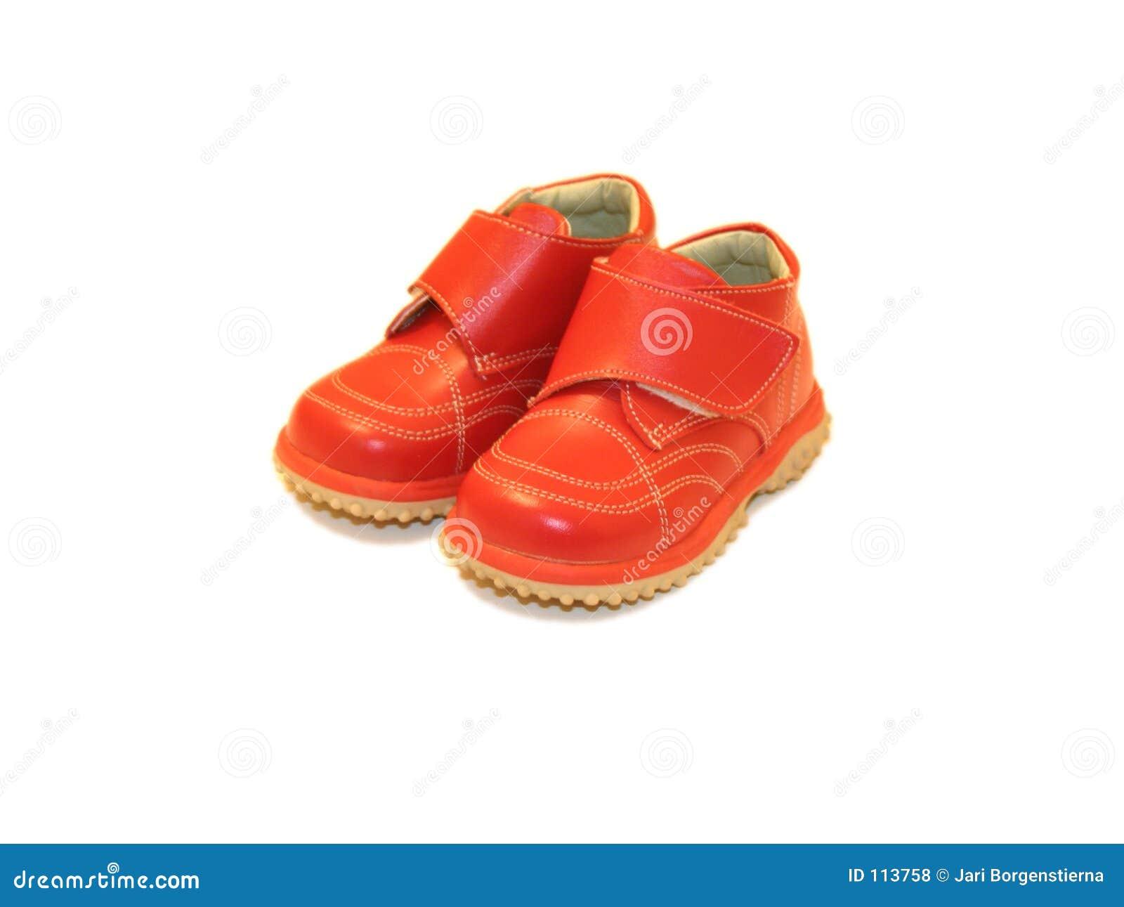 Sapatas de bebê vermelhas
