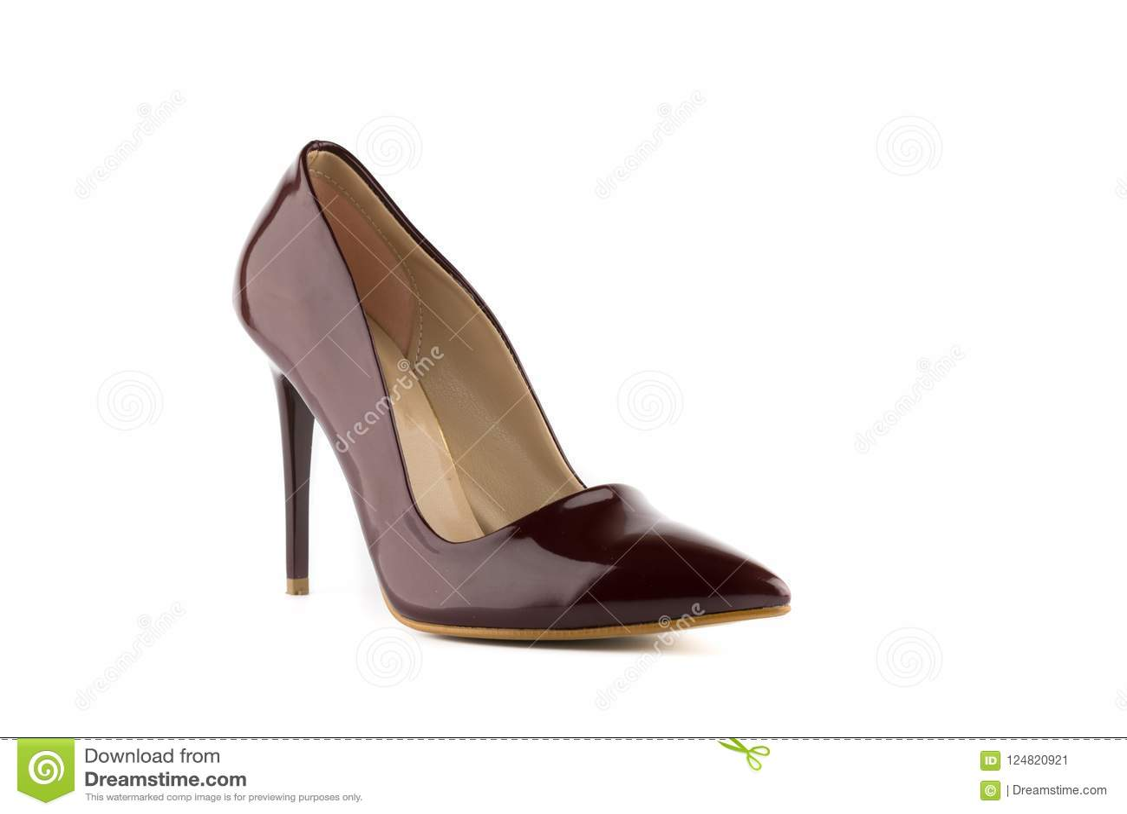 Sapatas do salto alto do estilete da mulher