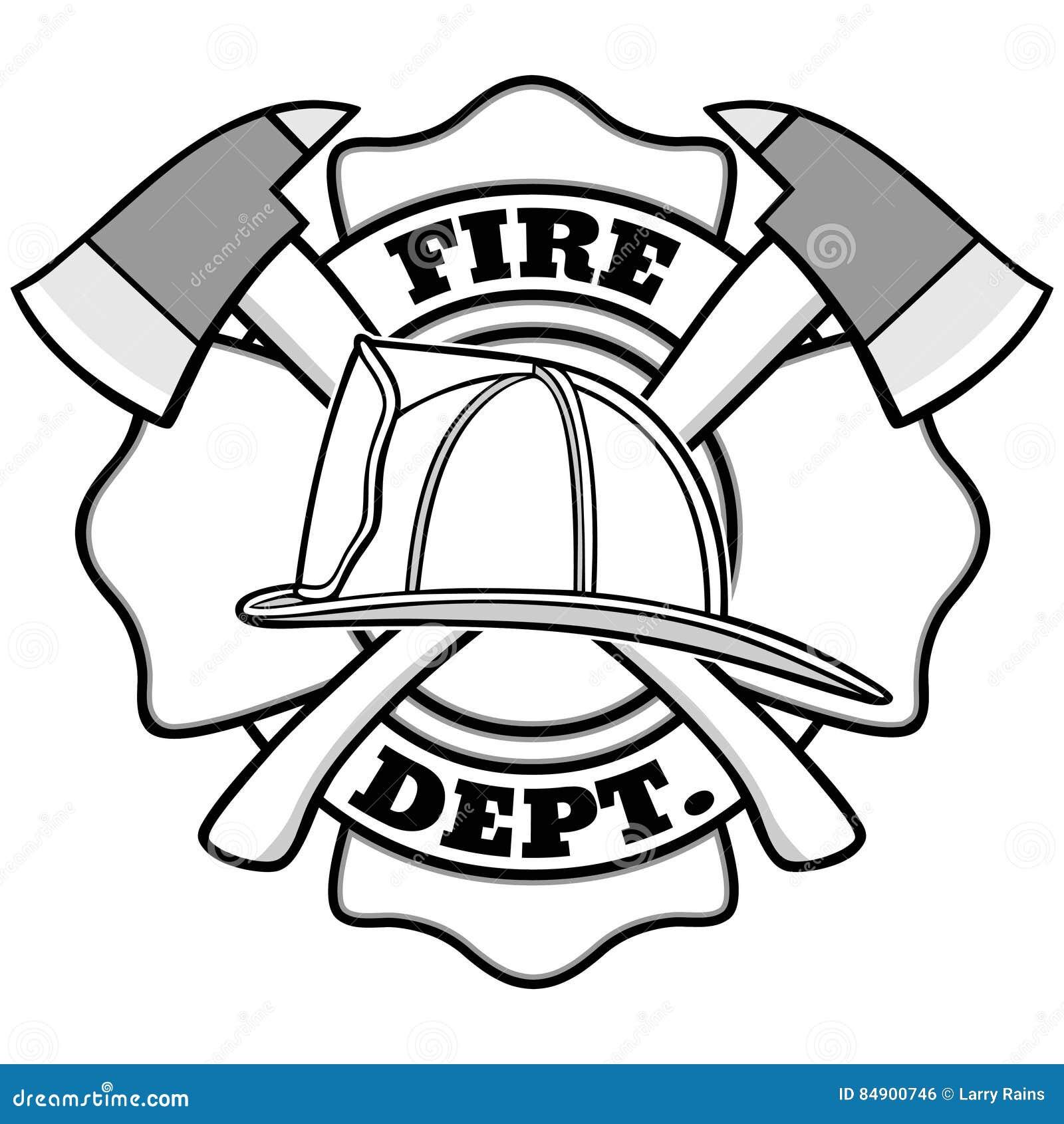 Sapeur-pompier Badge Illustration