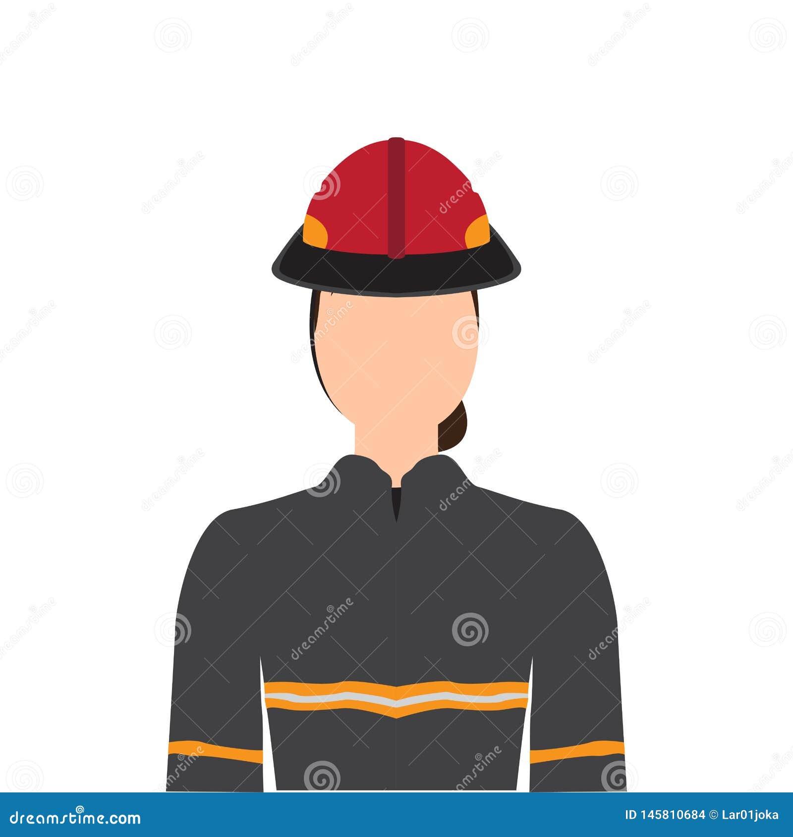 Sapeur-pompier féminin d isolement
