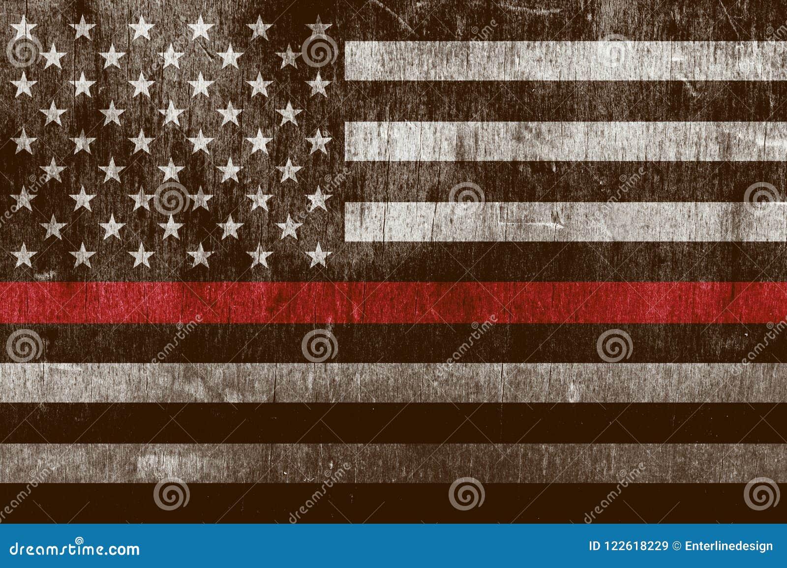Sapeur-pompier texturisé âgé Support Flag Background