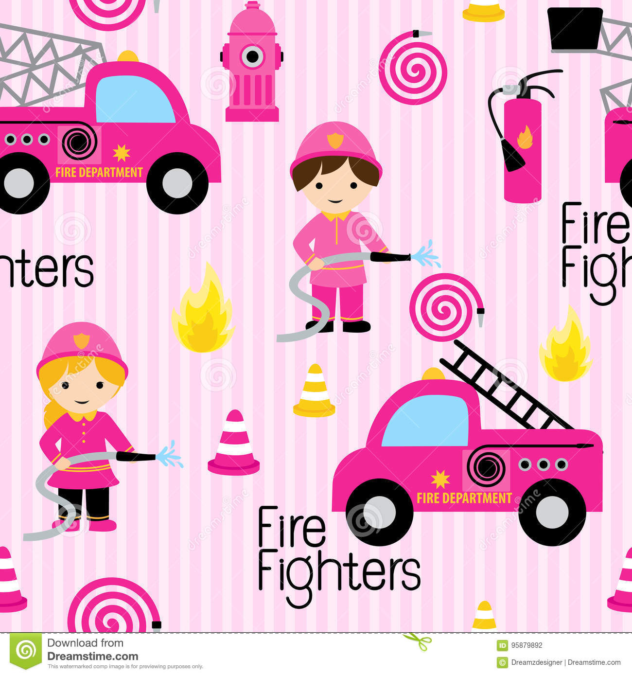 Sapeurs-pompiers girly mignons