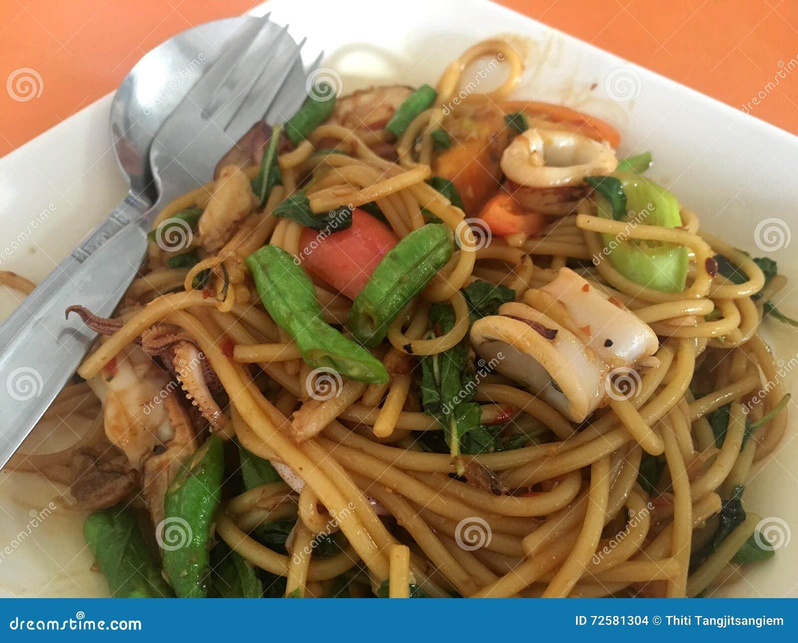 Spaghetti sea food