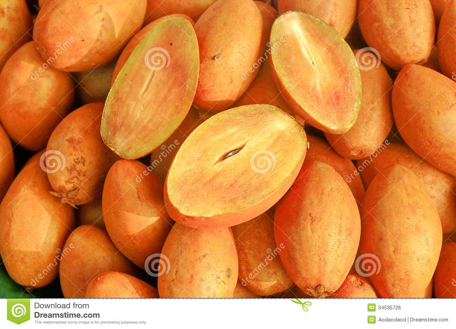 blocks fruit market sapodilla fruit
