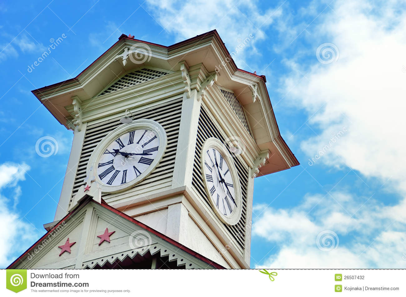 Sapporo Clock Tower. Stock Photography - Image: 26507432
