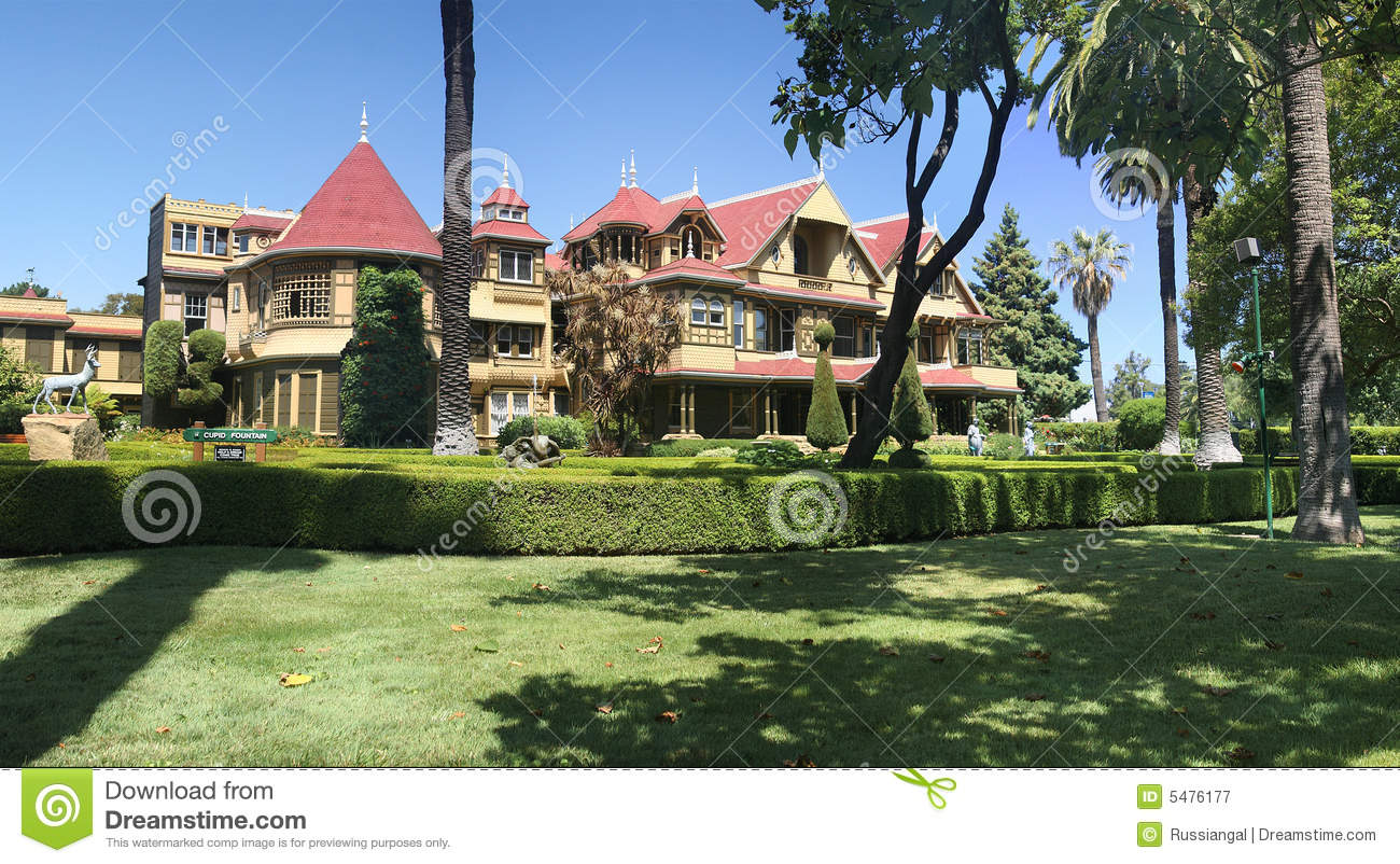 Royalty Free Stock Photography Sara Winchester Mansion Image5476177 on Victorian House Plans
