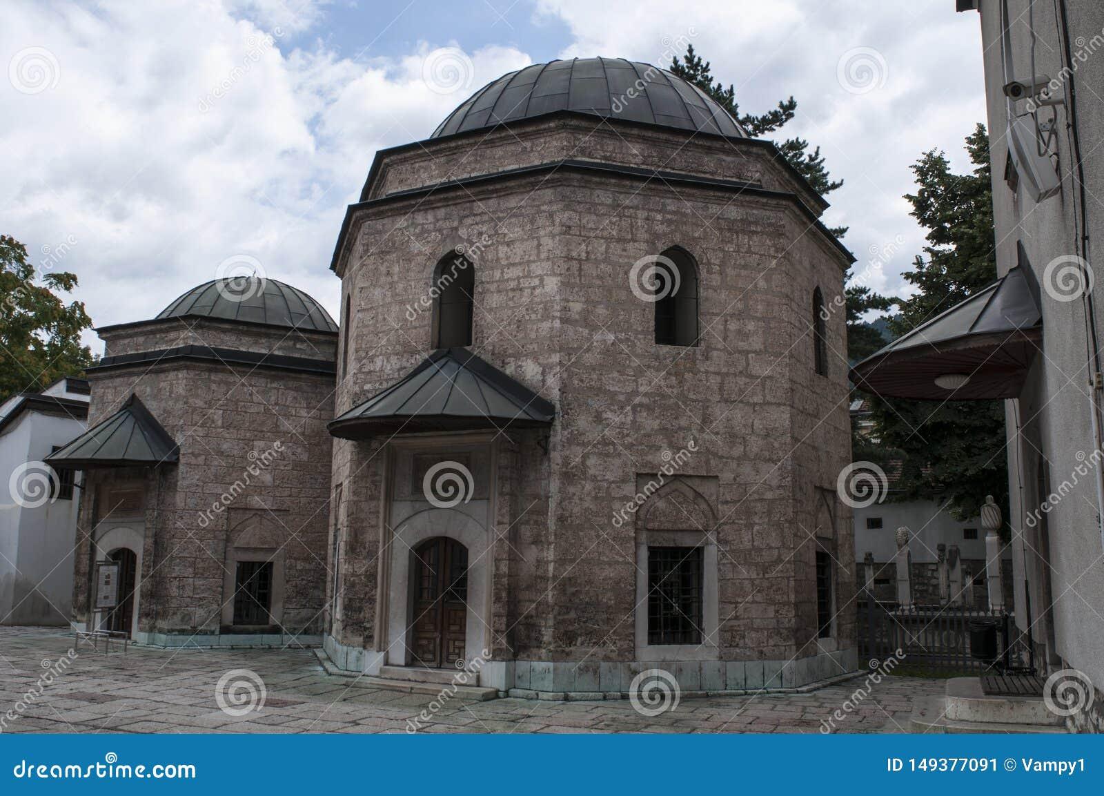 Sarajevo, Bośnia i Herzegovina, Gazi Błagamy meczet, mauzoleum, podwórze, koran, Koran, meczet