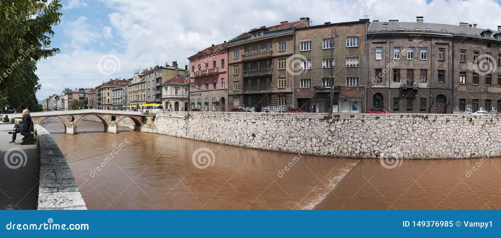 Sarajevo Bosnia And Herzegovina Skyline Latin Bridge