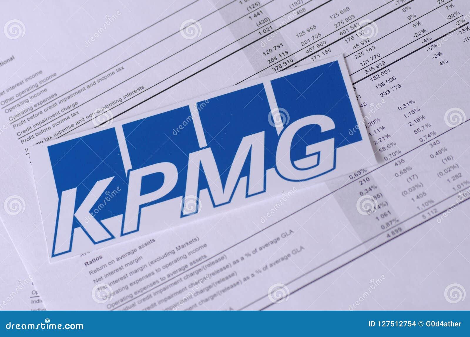 KPMG editorial stock image  Image of balance, consulting