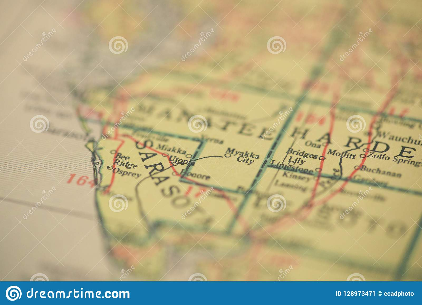 Map Of Florida Sarasota.Sarasota Florida Map Stock Image Image Of Sarasota 128973471
