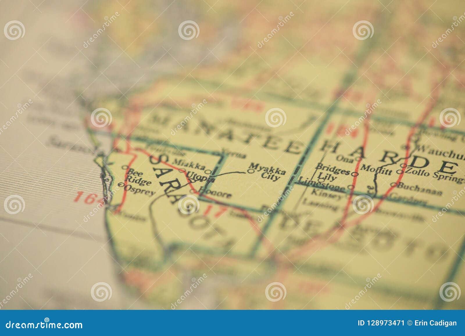 Map Sarasota Florida.Sarasota Florida Map Stock Image Image Of Sarasota 128973471