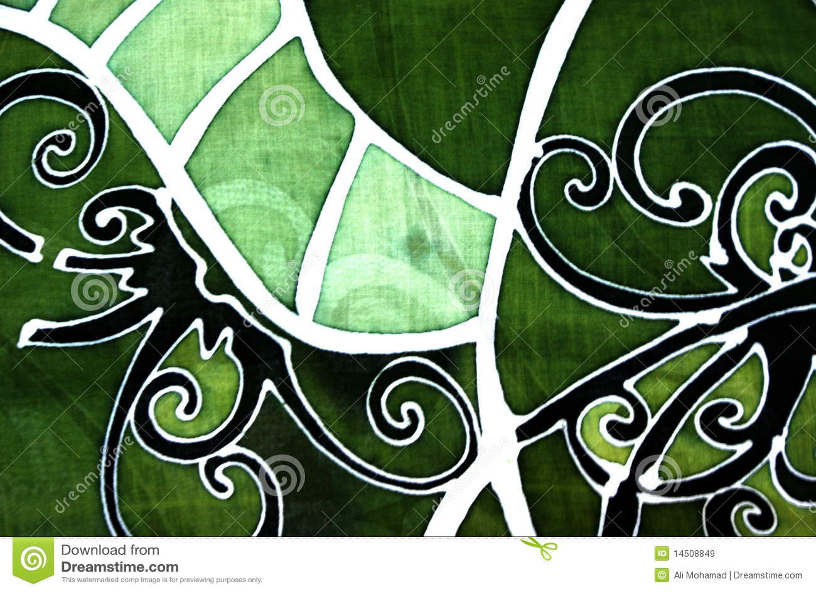 Batik Design known as batik in Malaysia