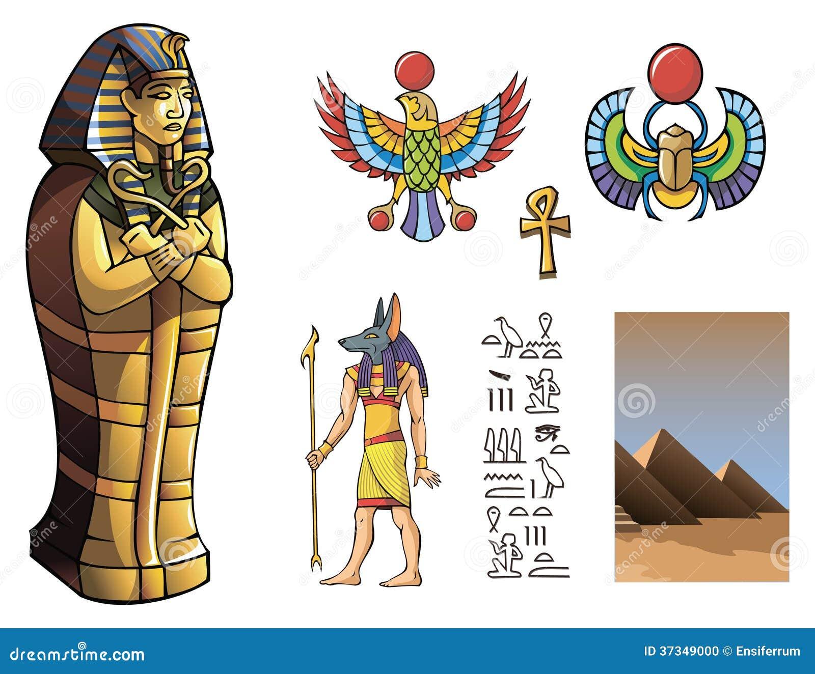 Disegno Di Un Faraone.Sarcofago Di Faraone Illustrazione Vettoriale Illustrazione Di