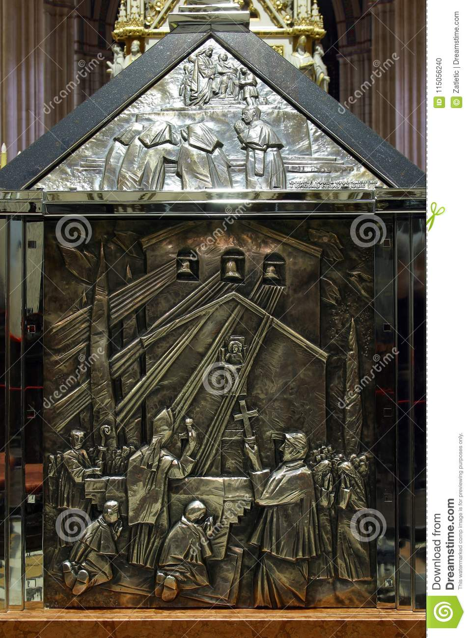 The Sarcophagus Of Blessed Aloysius Stepinac In Zagreb Cathedral Stock Photo Image Of Catholic Faith 115056240