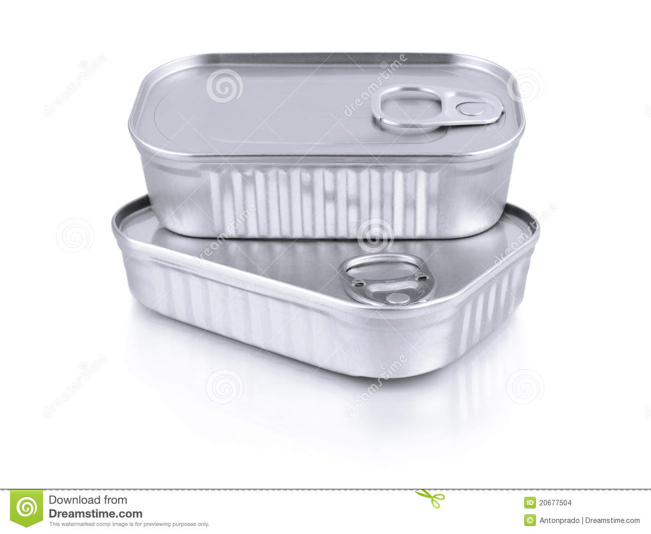 Sardine cans stock images image 20677504 for Empty sardine cans