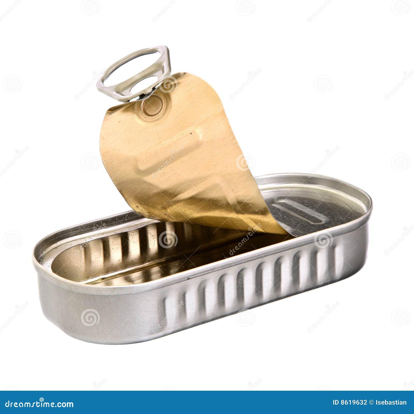 Sardine tin stock photo image of food empty background Empty sardine cans