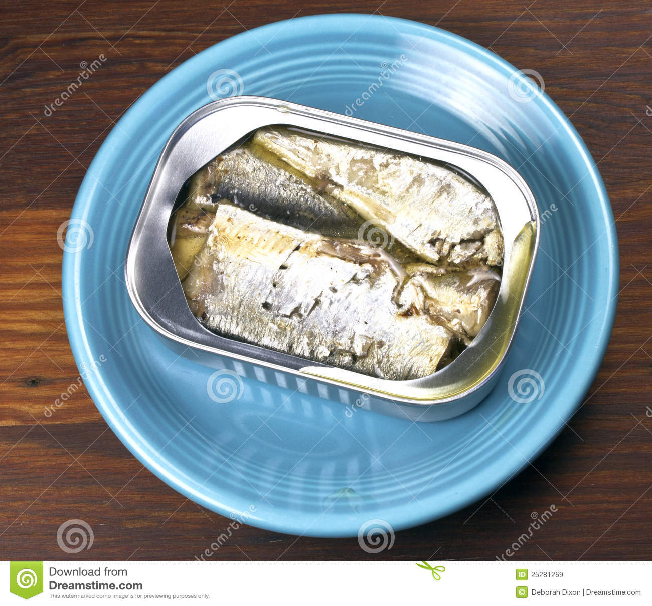 Sardines in an open can