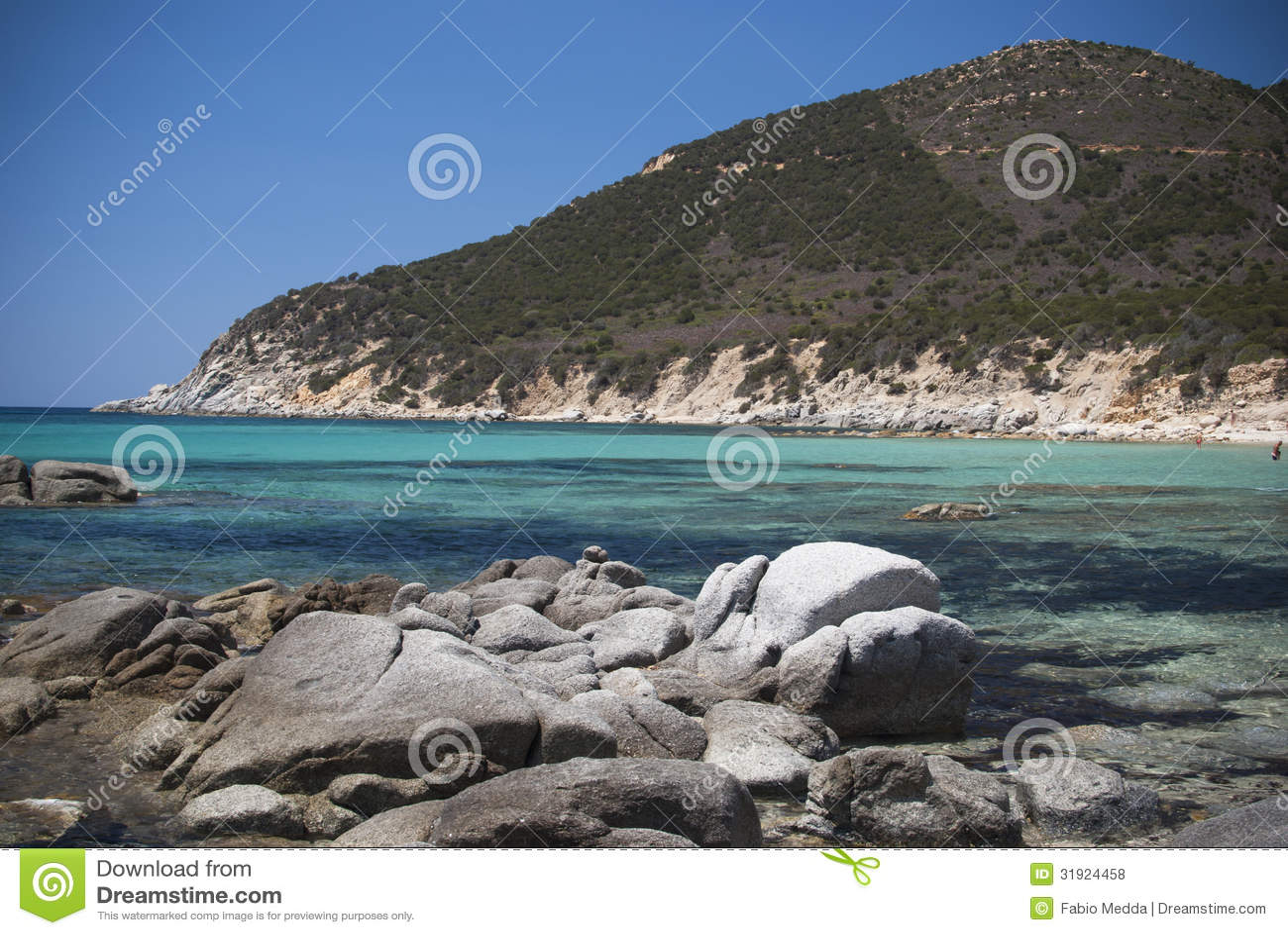 Sardinia. Águas e rochas tropicais