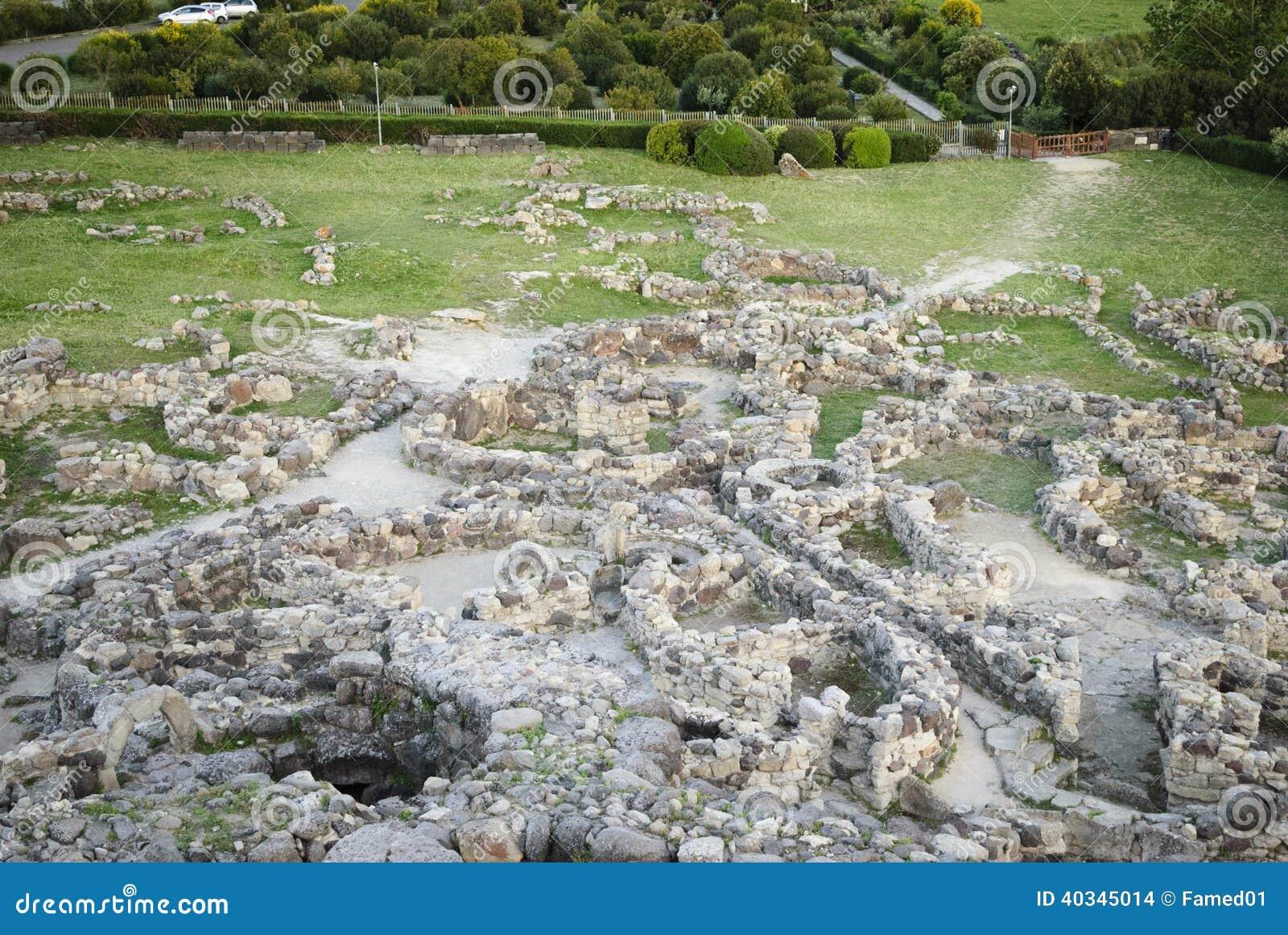 Sardinia. Barumini nuragic complex