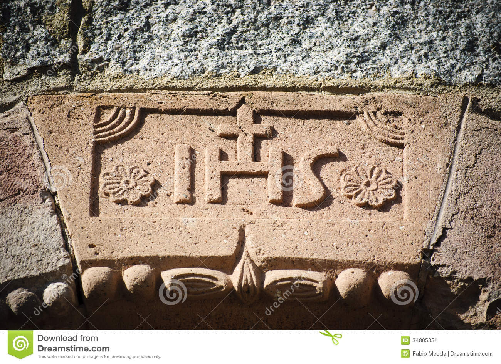 Sardinia.Inscription einer Kirche