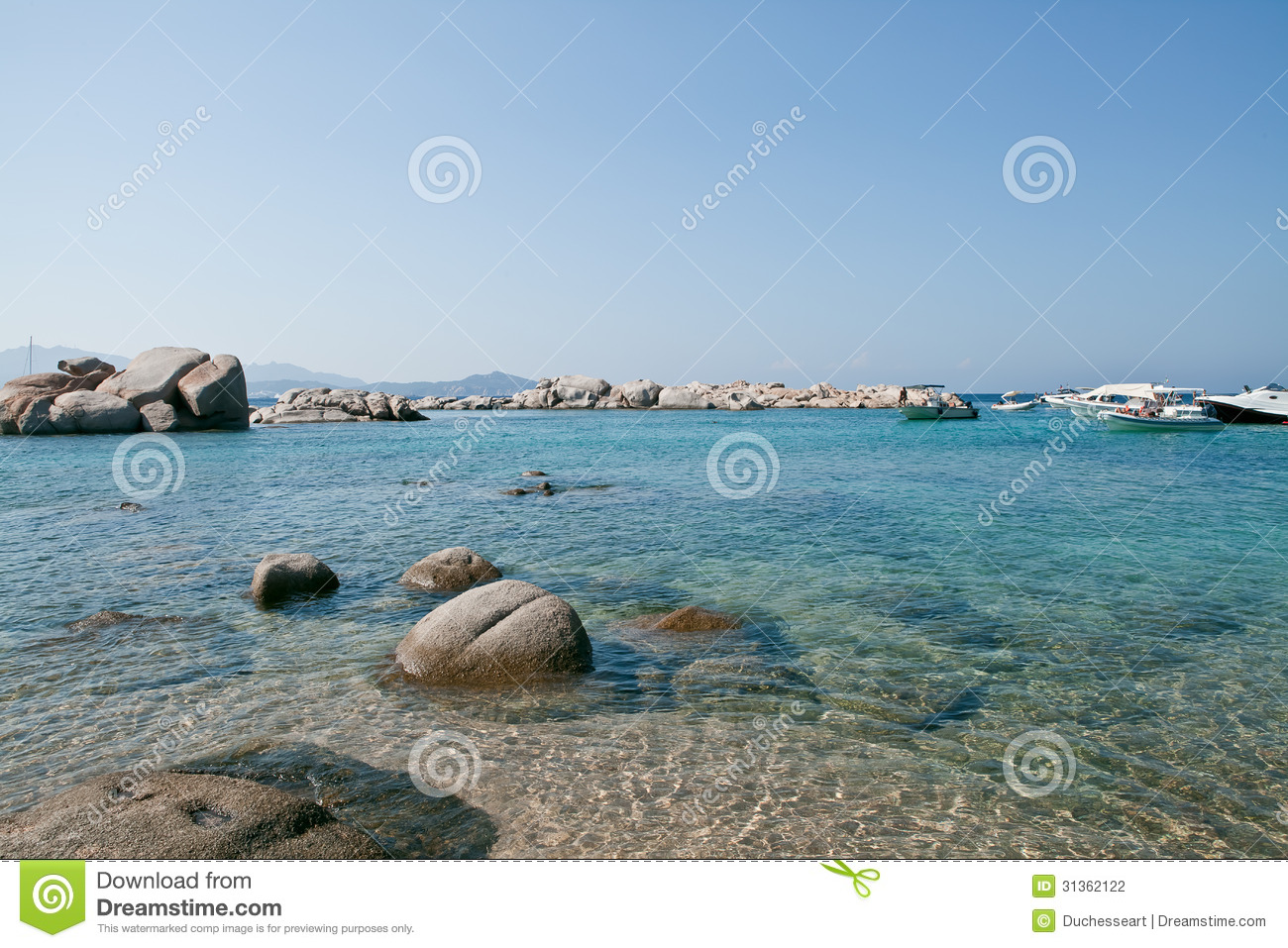 Sardinia Italy Crystal Water In Mediterranean Sea Stock Photo