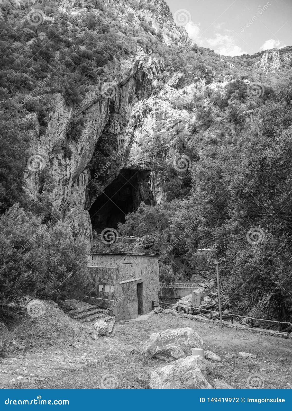 Sardinia. Natural monuments. Caves of San Giovanni, near Domusnovas in Iglesiente region. Southern entrance