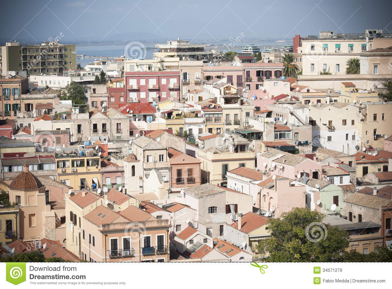 Sardinia. Roofs Of Cagliari Royalty Free Stock Images - Image ...