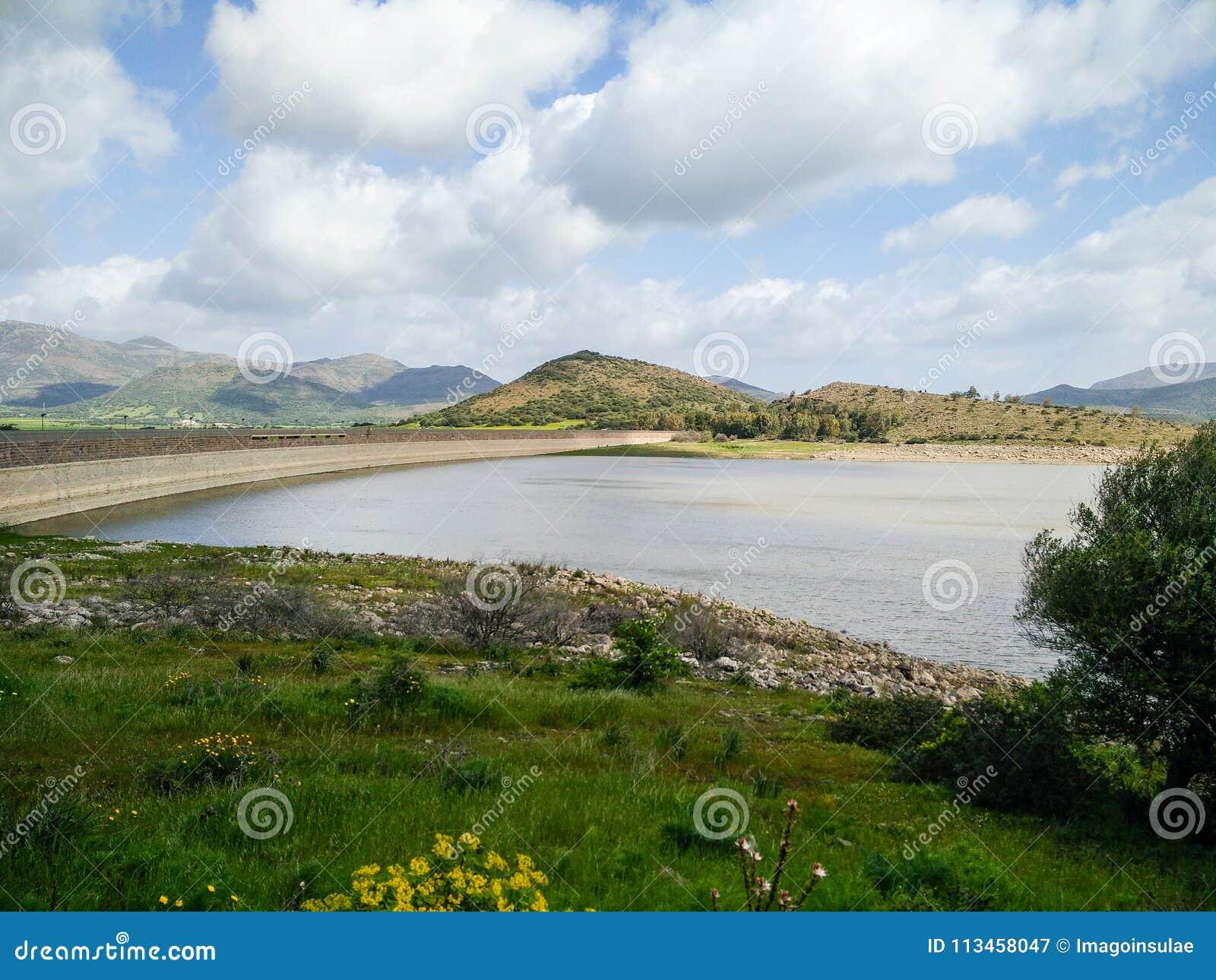 Sardinia. Tratalias. Lake of Monte Pranu