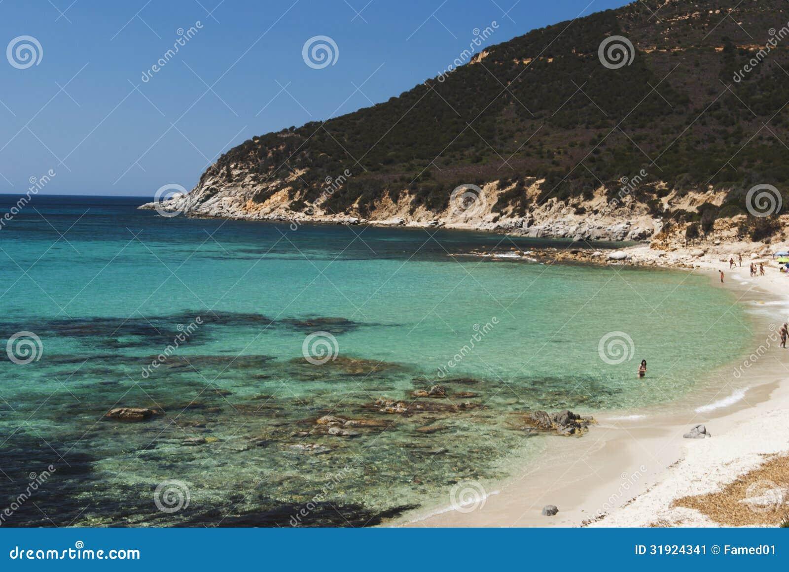 Sardinia. Villasimius. Praia Porto Sa Ruxi
