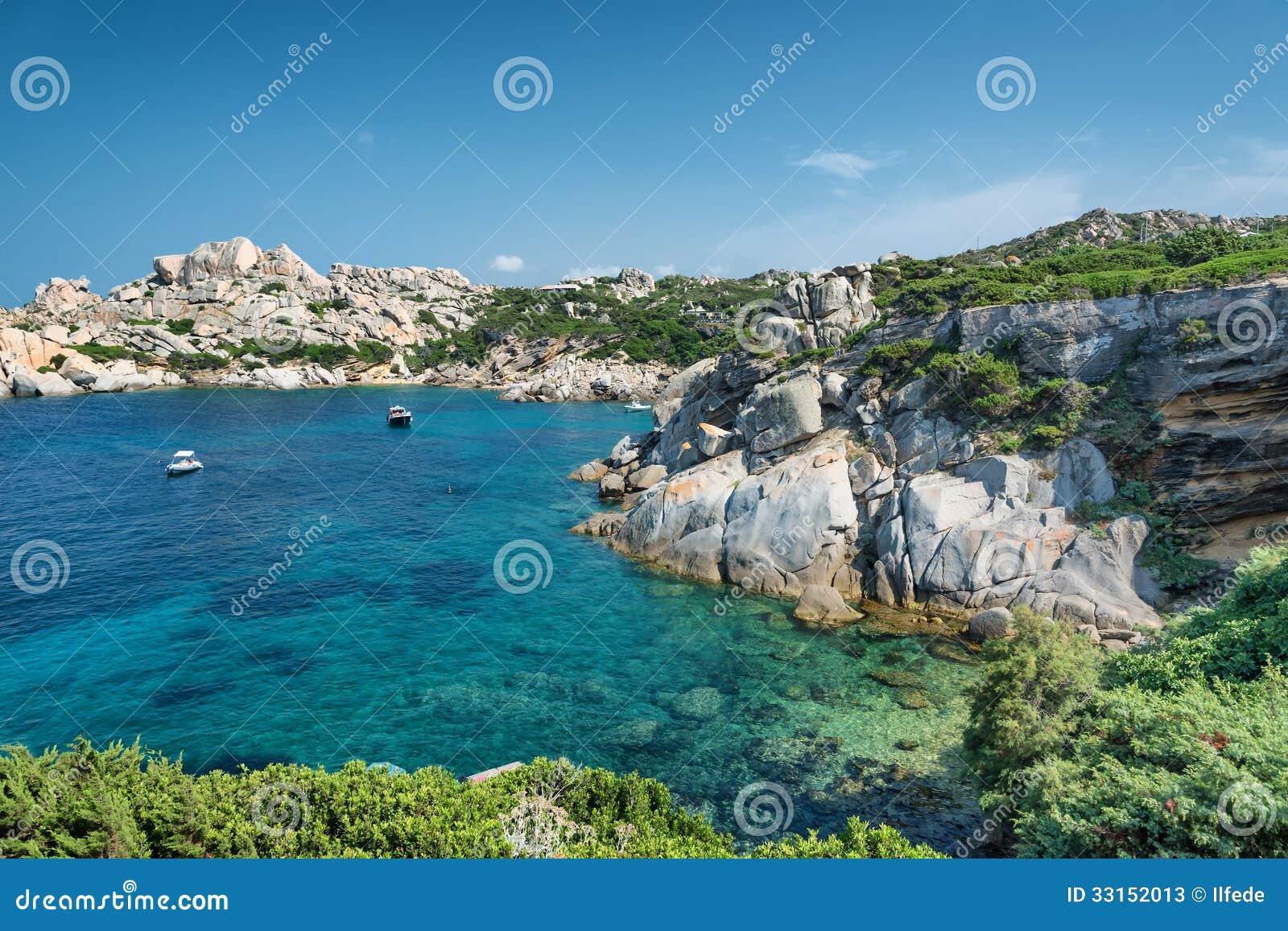Sardinien Strand Wunderbares Meer In Capo Testa Italien