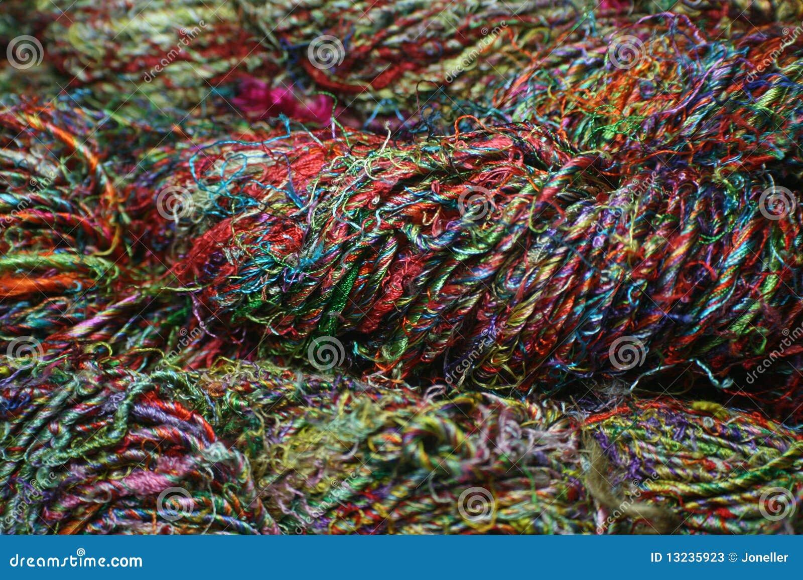 Sari Silk Yarn stock image  Image of sari, knit, natural
