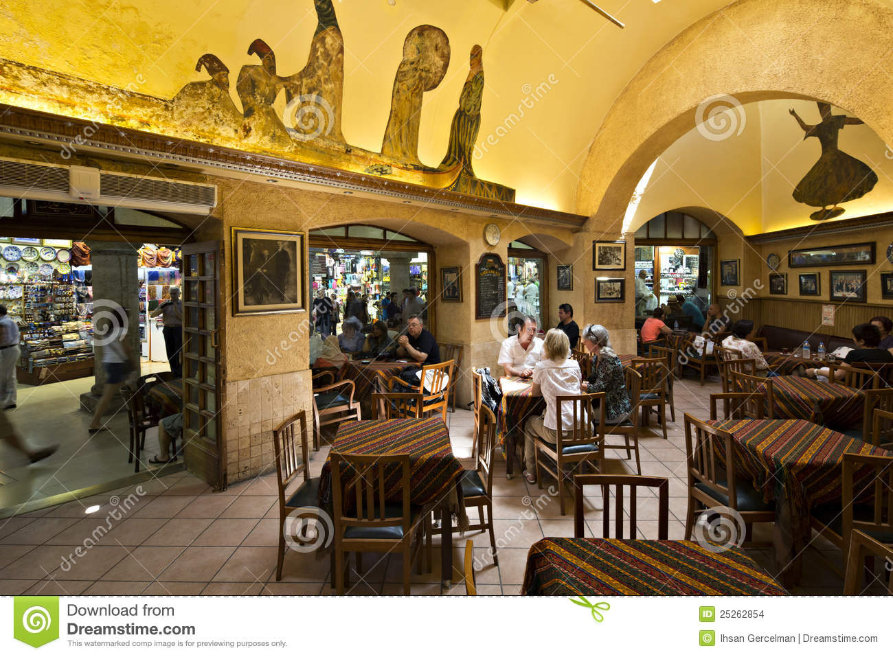Sark Cafe In Grand Bazaar Istanbul Turkey Editorial