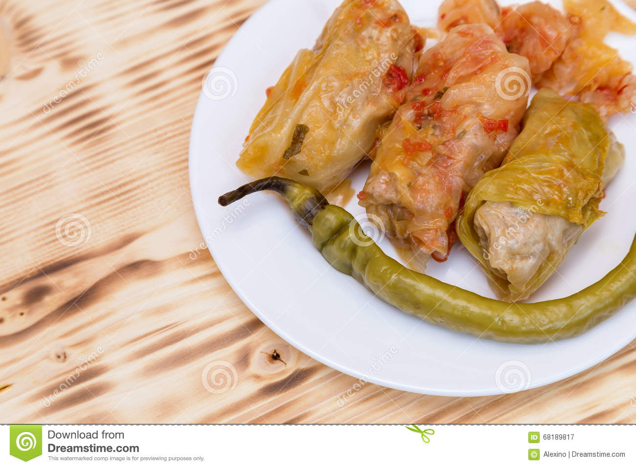 Sarmale, Stuffed Cabbage, Romanian Cuisine Stock Photo ...