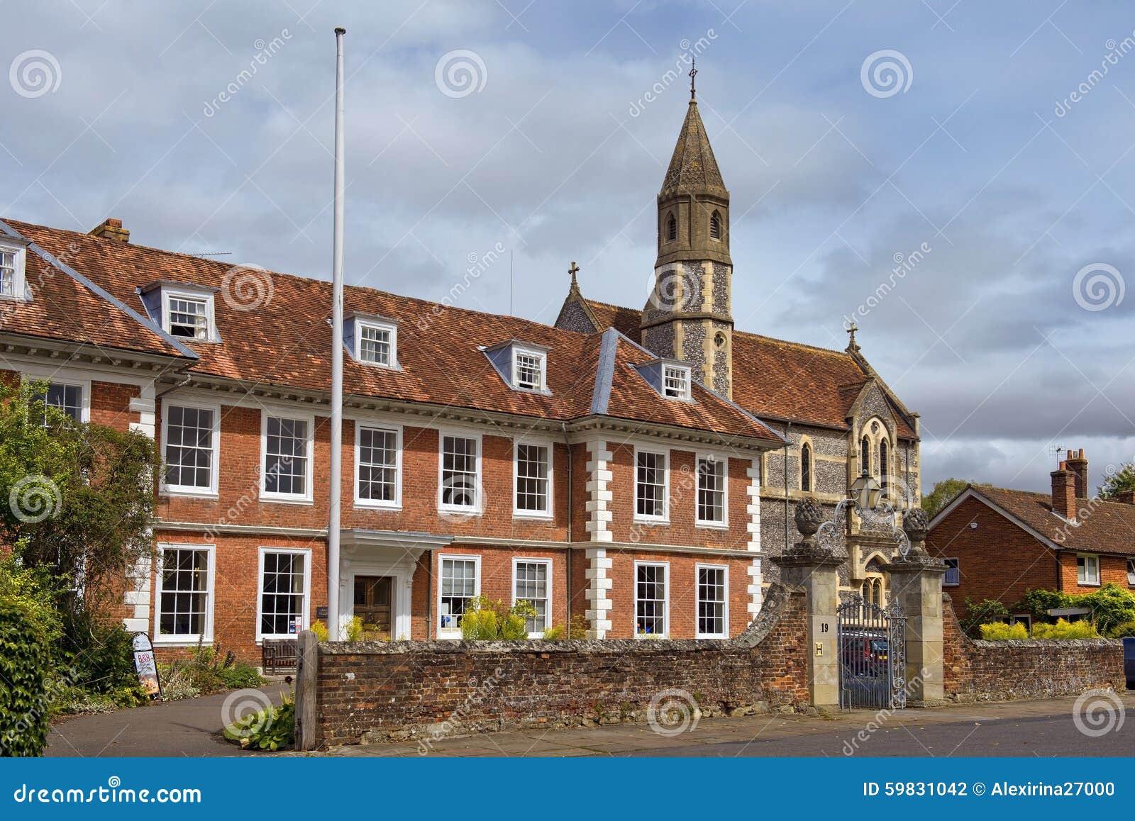 Sarum szkoła wyższa i katedra Zamknięci, Salisbury, Anglia