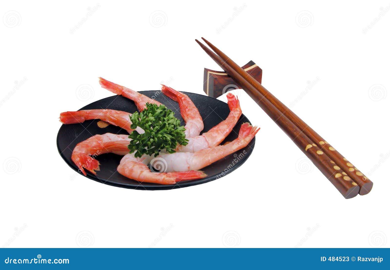 Sashimi del gambero ancora