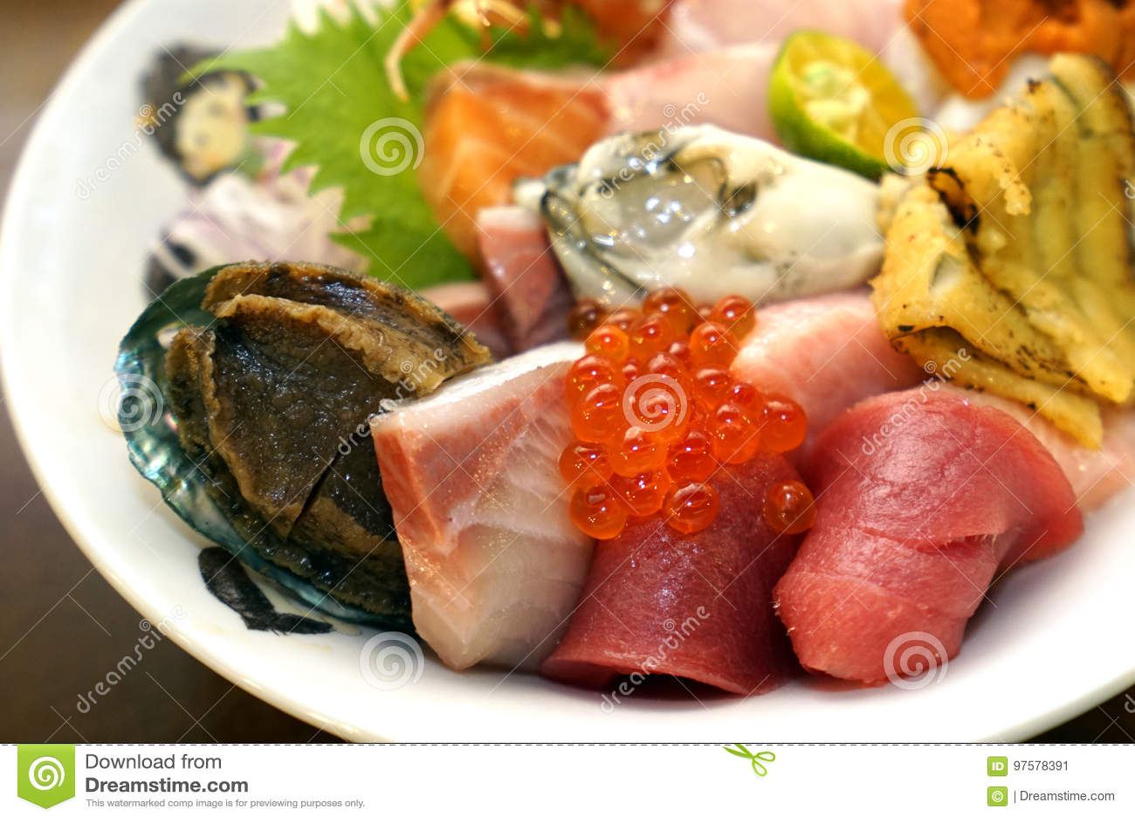 Sashimi japonês