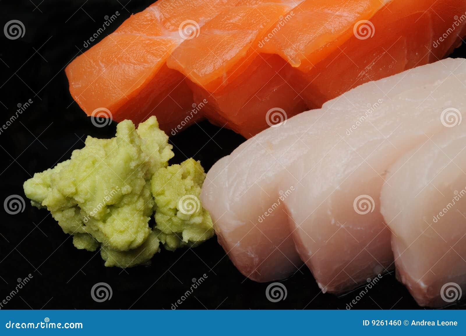 Sashimi wasabi