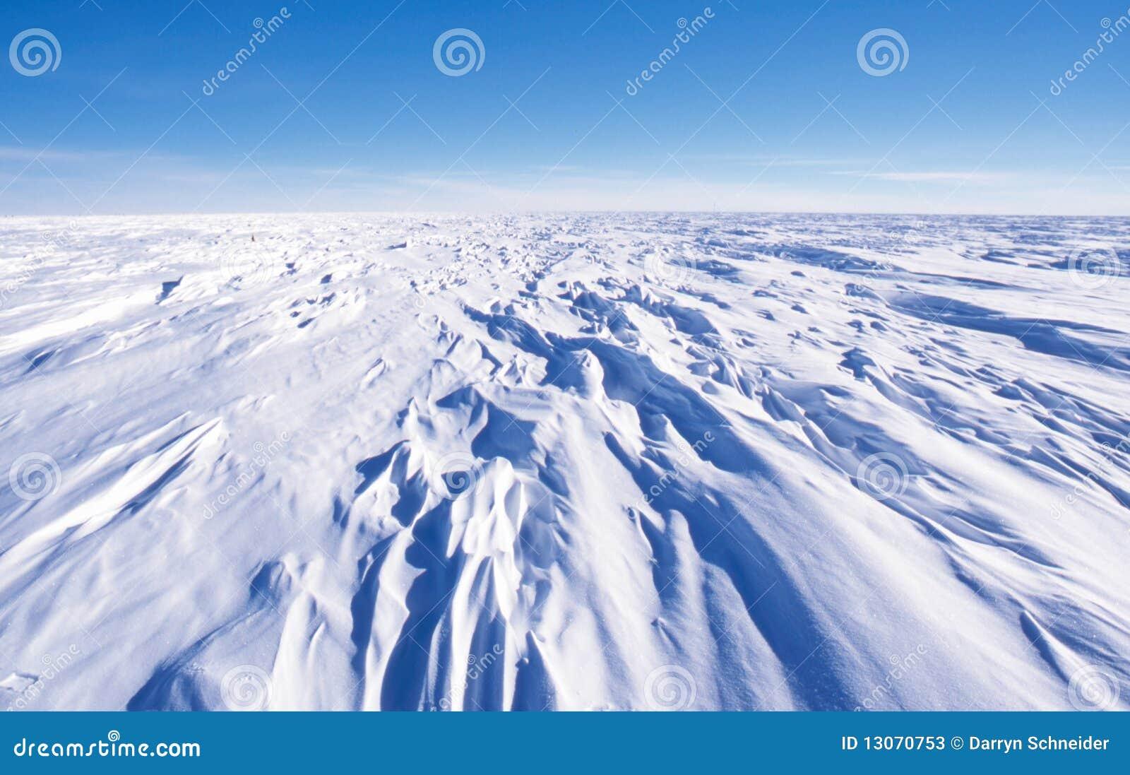 Sastrugi on the Antarctic Polar Plateau