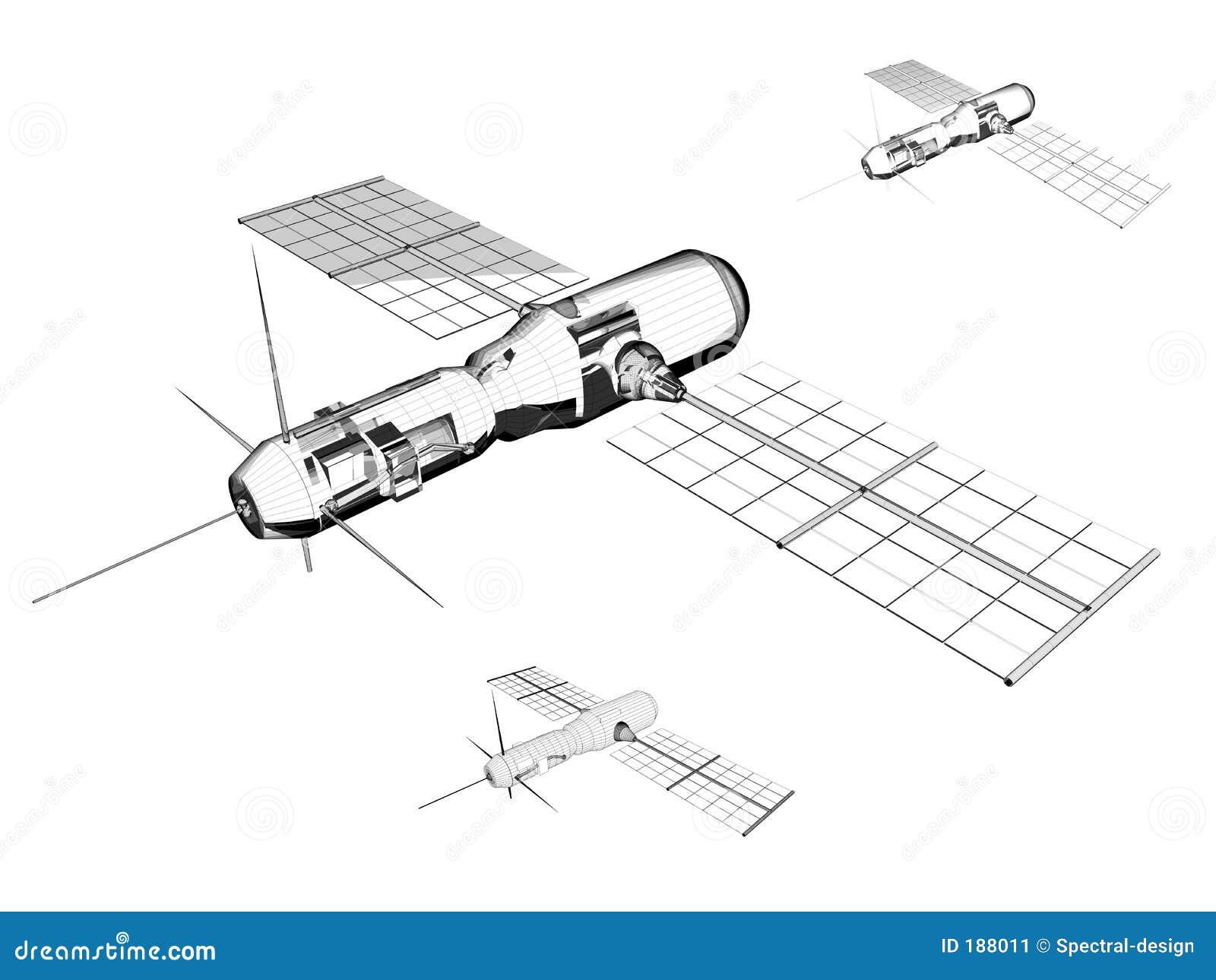 Satélite - ilustración industrial