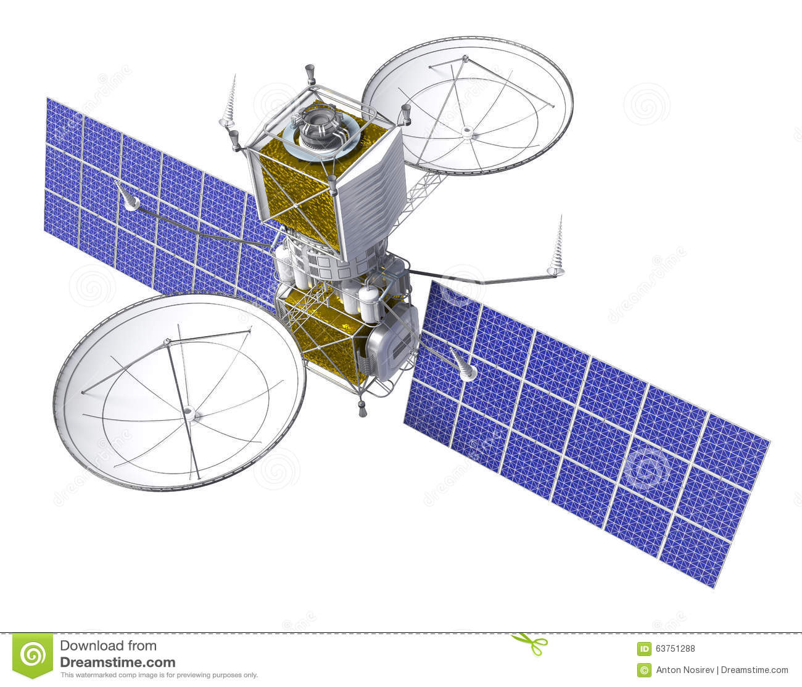 Satélite que se mueve en órbita alrededor