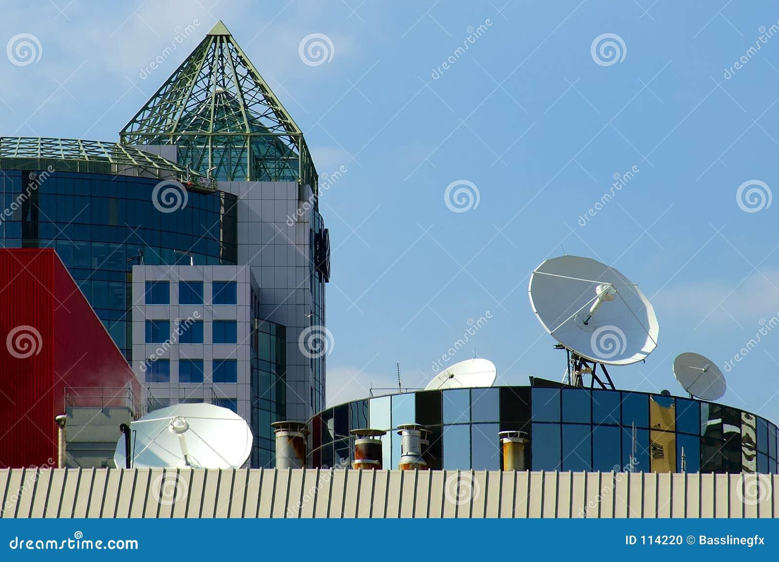 Satélites do telhado
