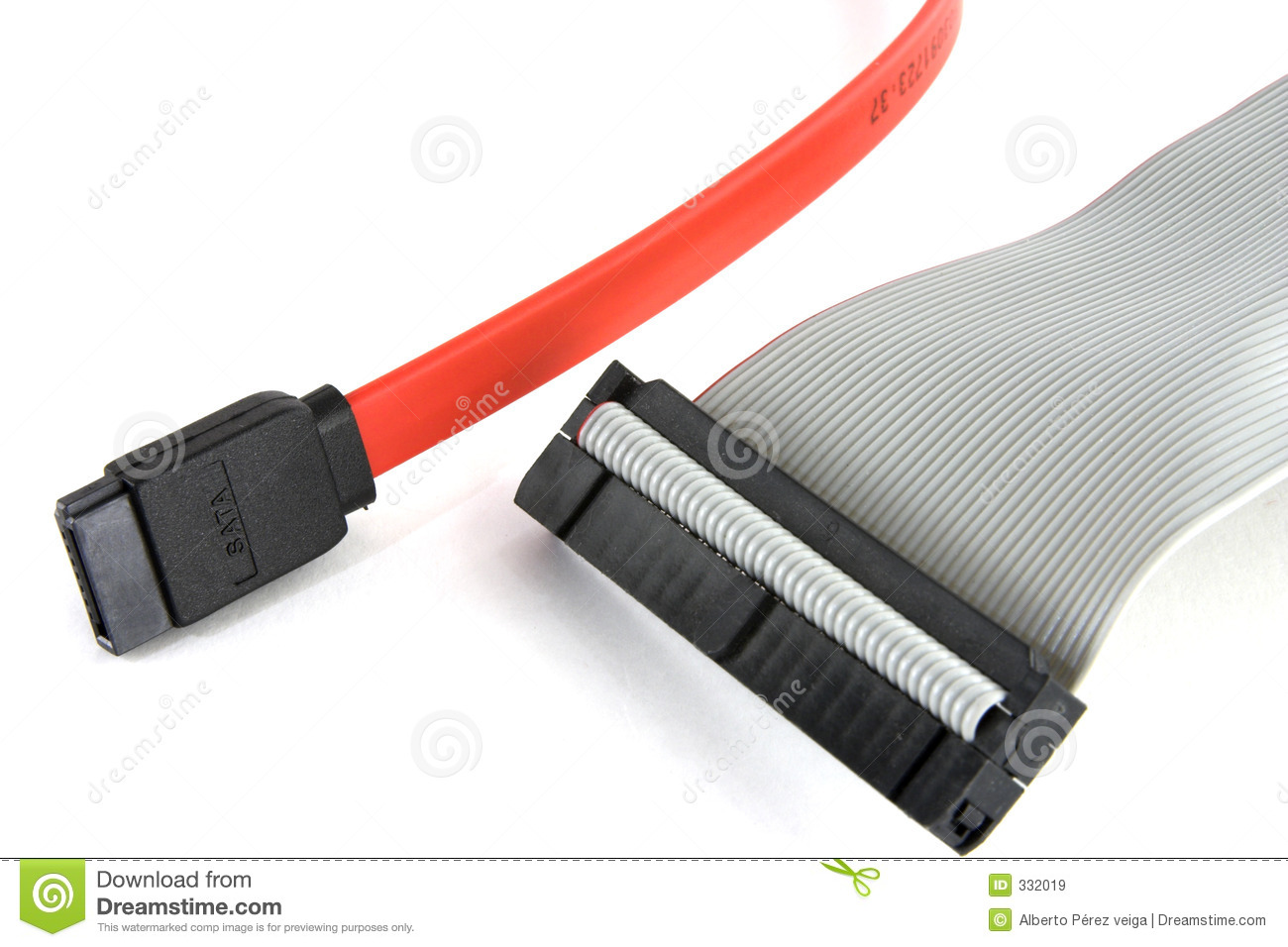 Sata And Ide Cables Stock Image Image Of Hardware Card
