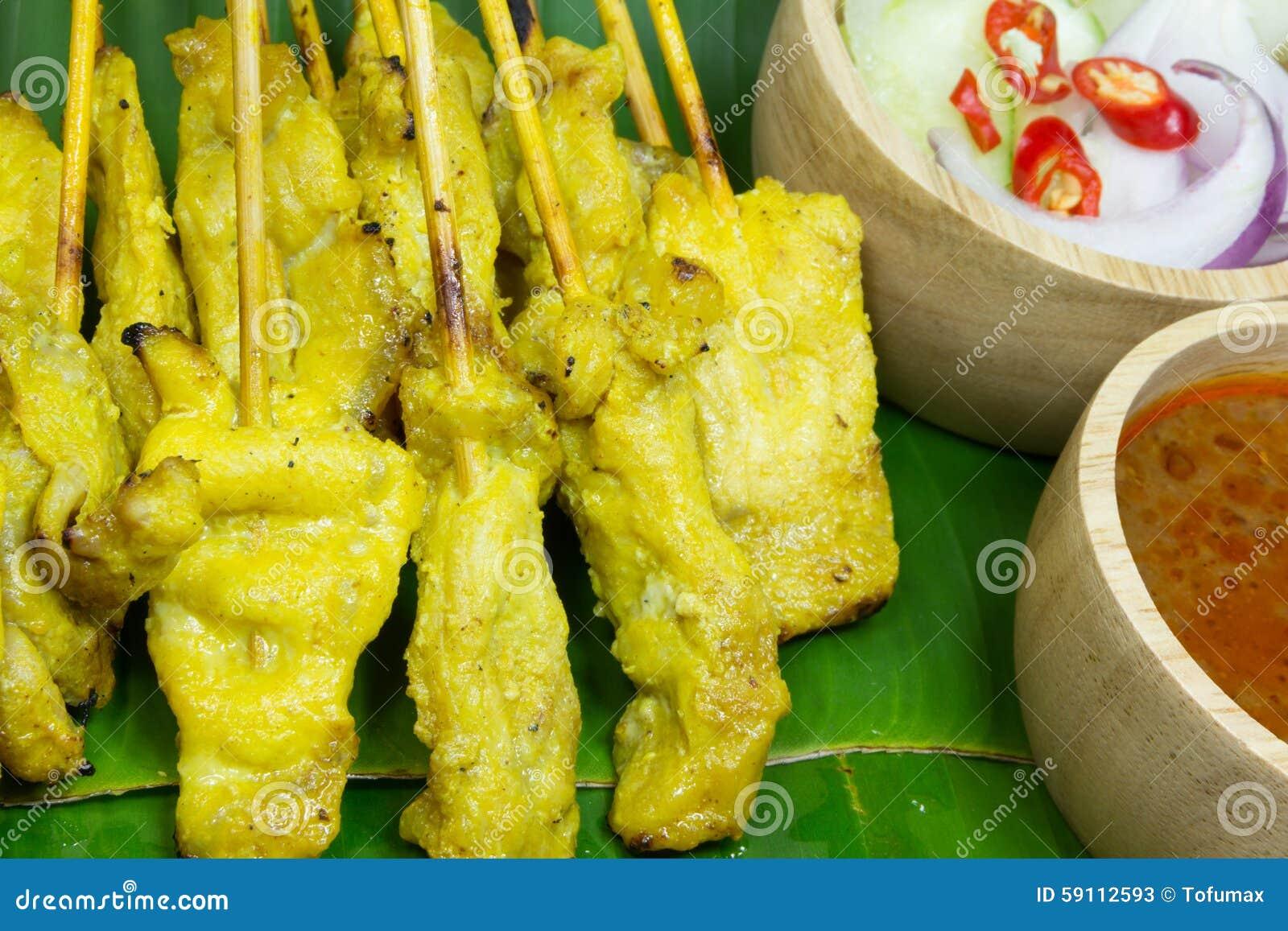Satay的猪肉