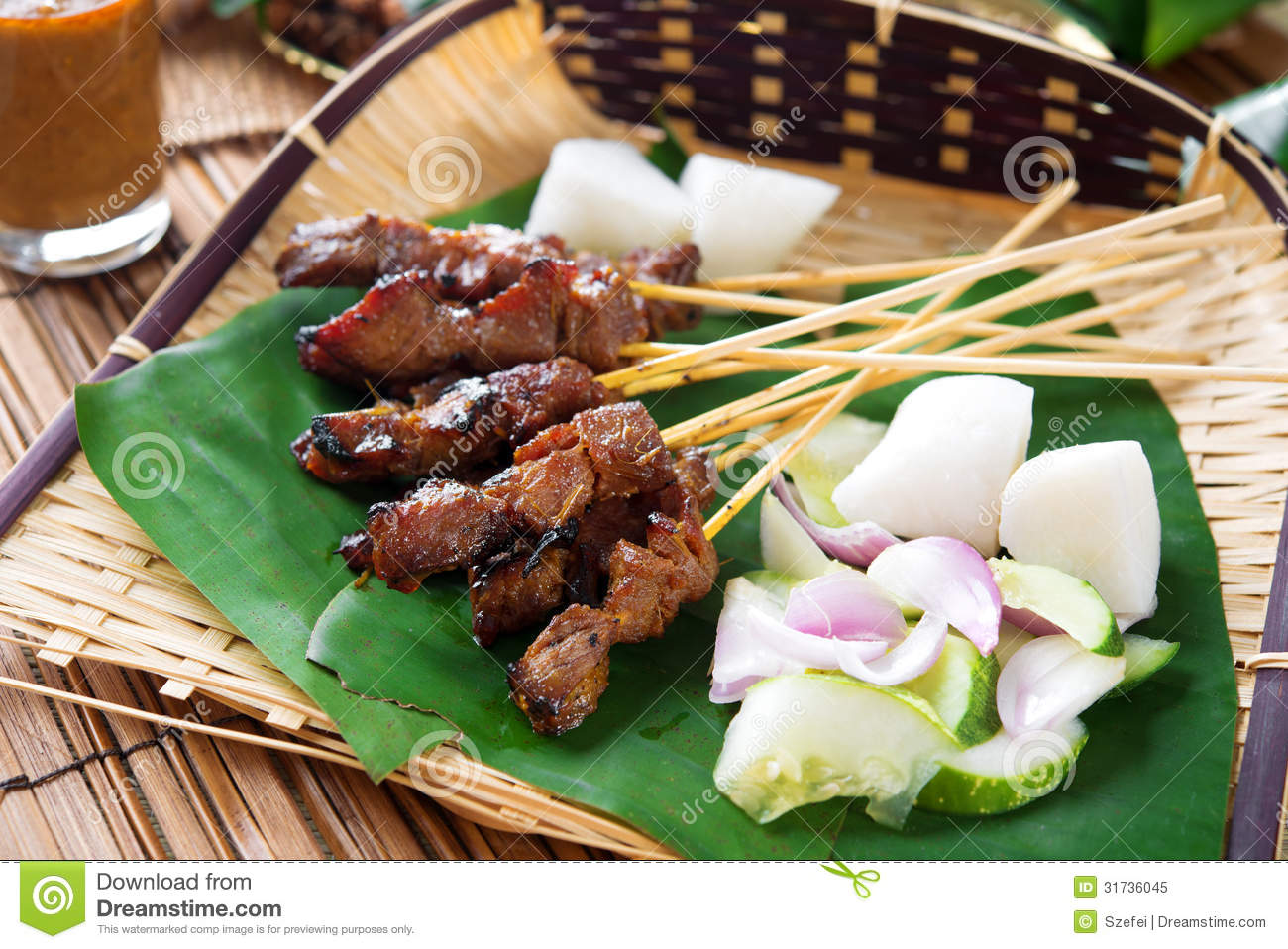 Satay grilled meat stock image image of beef malaysia for Authentic malaysian cuisine