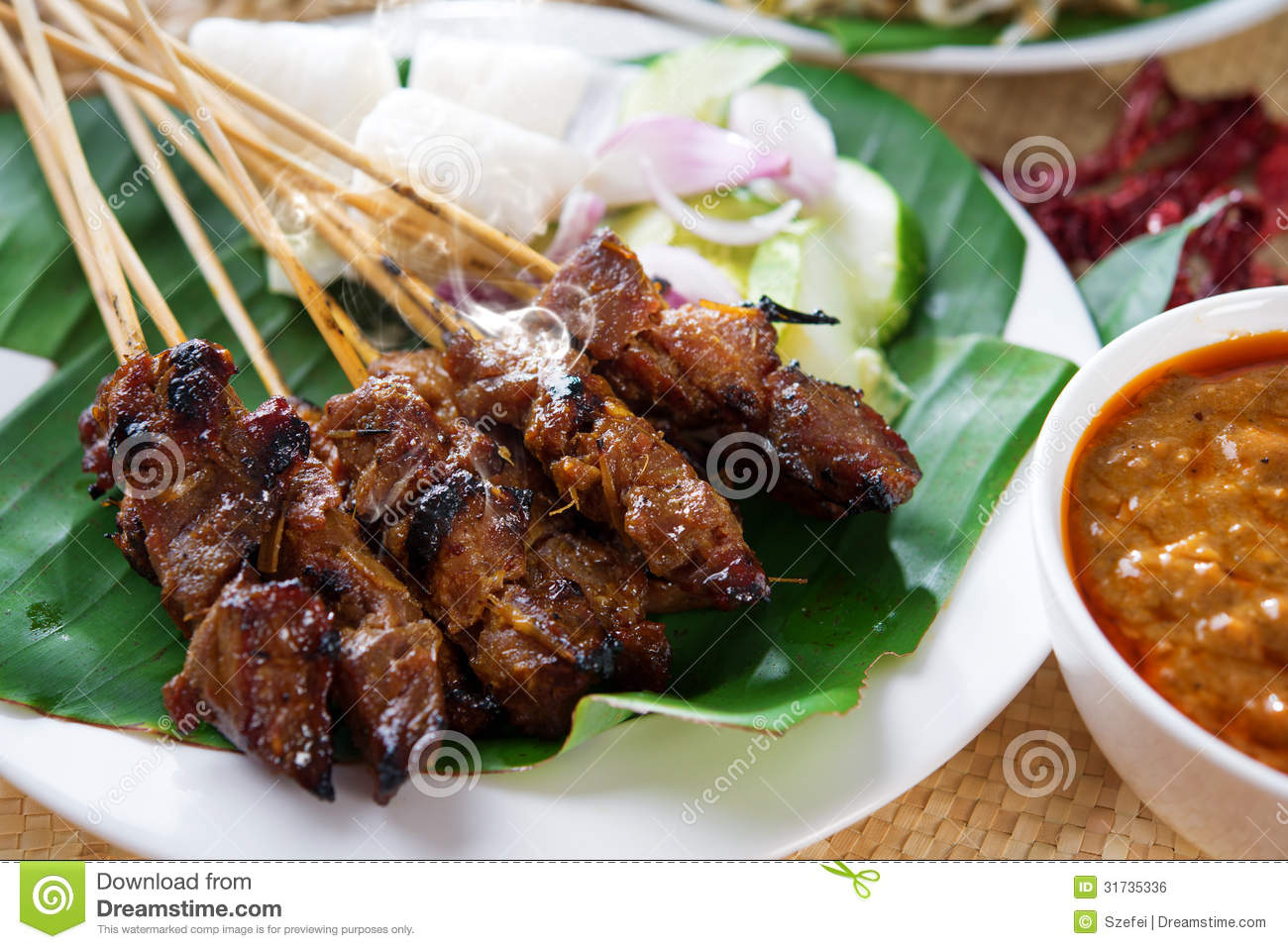 Sate royalty free stock image image 31735336 for Authentic malaysian cuisine