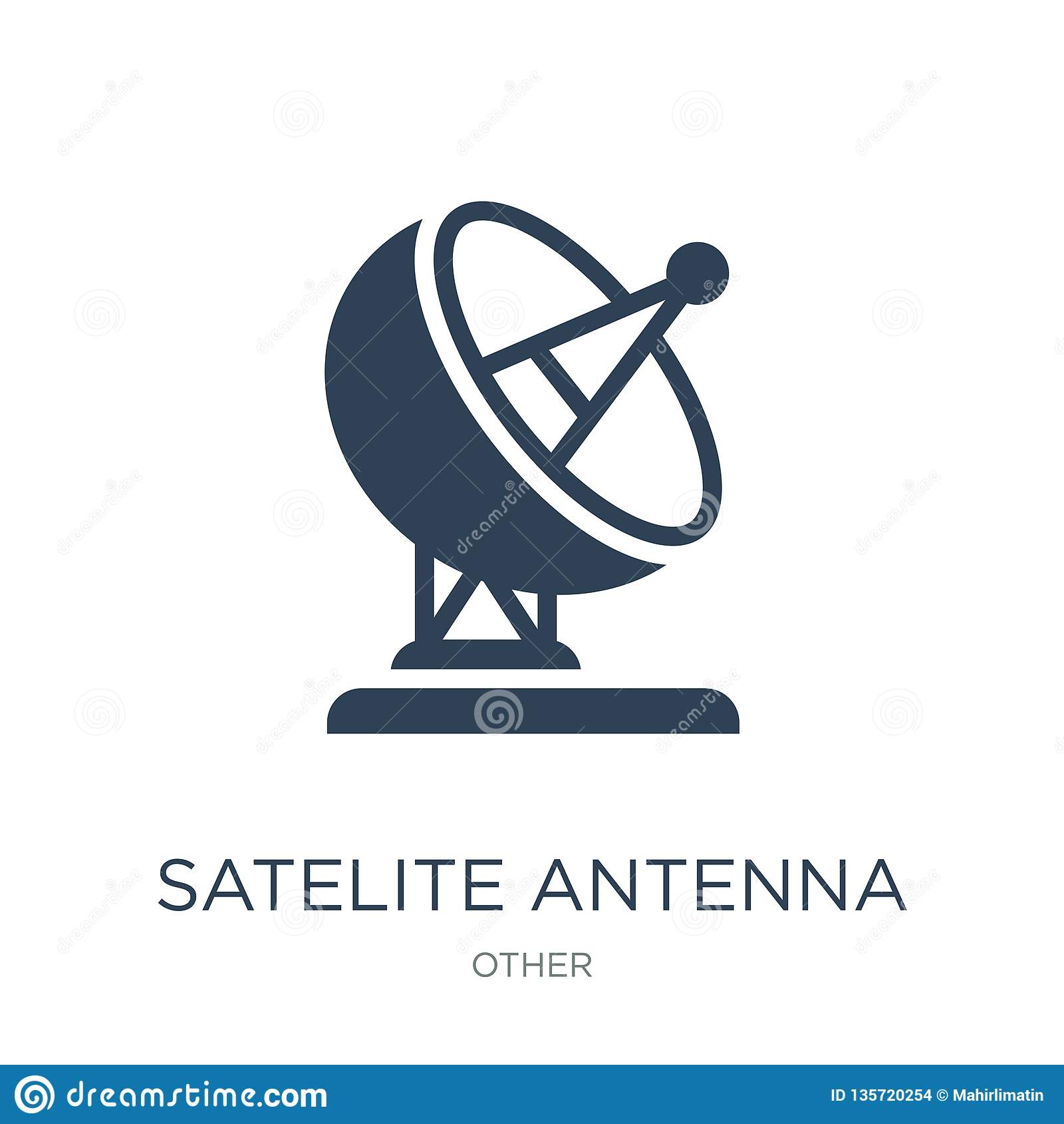 satelite antenna icon in trendy design style. satelite antenna icon isolated on white background. satelite antenna vector icon